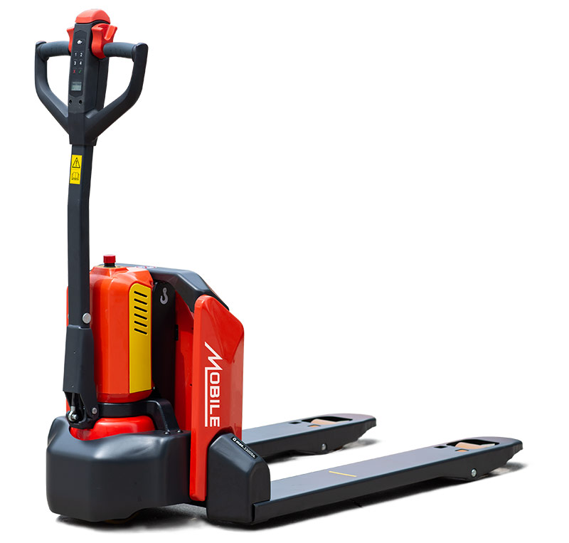 "Introducing The Full Electric ""EFET33N-LB"" (Lithium-Powered) Pallet Truck"